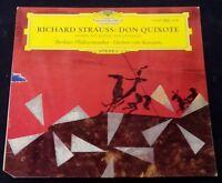 Strauss : Don Quixote , Karajan , Fournier Cello DGG 139009 Tulips LP EX