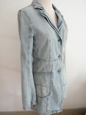 AUTHENTIQUE MANTEAU ARMANI JEANS TAILLE 38 F DENIM INTEMPOREL ! PRIX RELUXING