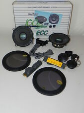 Kit impianto completo 2 vie casse auto 80W woofer 10 cm tweeter dome filtri ECC
