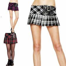 Mini Kilt Skirt XS S M L XL Hellbunny White Red Purple Tartan Plaid