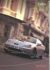 TOYOTA CELICA AND CELICA 190 SALES BROCHURE OCTOBER 2000 FOR  2001 MODEL YEAR