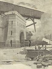 A1104 Traforo del Sempione - Portale Galleria a Briga - Stampa Antica del 1905