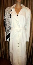 1980's Women's Trench Coat White Full length Size 14 J. Gallery NWT