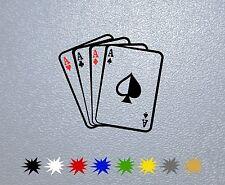STICKER PEGATINA DECAL VINYL AUTOCOLLANT AUFKLEBER Aces Poker