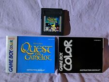 Quest For Camelot Gameboy Video Game (1998, Titus Games) Manual & Game Cartridge
