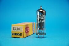 Philips Ez40 Nos Nib Tested Full-wave Vacuum Rectifier Power Supply Tube Valve