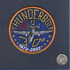A-10 THUNDERBOLT II WARTHOG 30th Annivrsary USAF FS TFS Fighter Squadron Patch