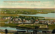 The Head Of Courtney Bay & The Proposed G.T.P. Terminal, St John NB Canada 1916