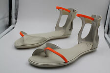 ALEXANDER MCQUEEN SANDALS SHOES WS005 NAPPA BONE IVORY SIZE 6.5