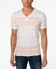 Inc International Concepts Striped Y-neck T-shirt Peach Mens 2XL New