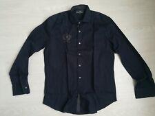 Chemise ETIQUETA NEGRA men navy shirt New 39 Medium size Nodus