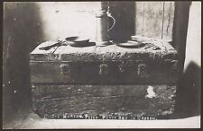 Devon. Combe Martin Parish church. Peter Pence Box in Church. Vintage Real Photo