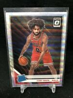 COBY WHITE 2019-20 Panini Optic Fanatics Silver Wave Prizm #180 Bulls RC SP V47