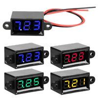"0.28"" Digital Voltmeter 3.0-30V LED Display Voltmeter Waterproof W/ Cable Cord"