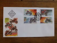 BULGARIA 2016 ADVENTUR MOTORCYCLES SET 4 STAMPS FDC FIRST DAY COVER