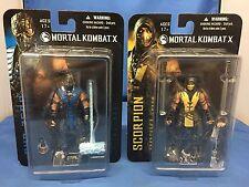 "Mortal Kombat X Sub-Zero & Scorpion Mezco Toys 3.75"" Collectible Action Figures"