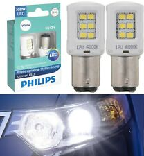 Philips Ultinon LED Light 2057 White 6000K Two Bulbs Back Up Reverse Replacement