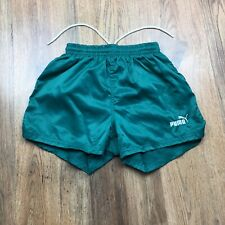 Vintage Puma Shiny Nylon Shorts Glanz Gym Ibiza Running Size XS* (N083)