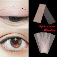 Hot 120Pcs Magic Invisible Double-fold Eyelid Sticker Lace Fiber Narrow Tape