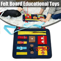 Toddler Busy Board Montessori Basic Skills Board Educational Learning Toys