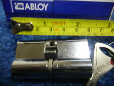 ABLOY PROTEC EURO PROFILE 30/30 DOUBLE CYLINDER HIGH SECURITY LOCK w/2 keys & ID