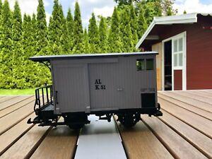 LGB Güterwagen / Gepäckwagen / Caboose / Spur G / Gartenbahn / US / llm
