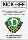 6.8.95 Dynamo Dresden-Erzgebirge Aue
