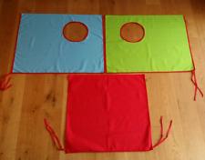 Flexa Vorhangset 3-tlg. rot-grün-blau Gardine Bettvorhang zu Hochbett Spielbett