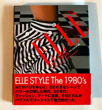 ELLE STYLE THE 1980s JAPAN PHOTO BOOK 2003 w/OBI & Japanese text booklet FASHION