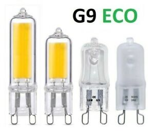 G9 Halogen ECO Light Bulbs Clear Frosted 240V 18W 25W 28W 40W Watts Dimmable