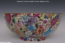 Fine Beautiful Chinese Famille Rose Porcelain Million Flowers Bowl