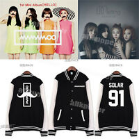 KPOP MAMAMOO Melting Album Baseball Uniform Unisex Coat WheeIn Solar Jacket