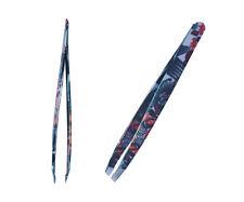 Stainless Steel Eyebrows Tweezers Hair Removal Plucking Slanted Tip Beauty Tool