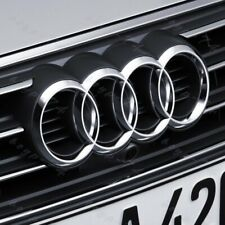 Chrome Badge Emblem For Audi Front Rings Grill Grille Hood A3 A4 S4 A5 S5 A6 S6
