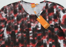 Men's HUGO BOSS ORANGE Cotton Abstract Print T-Shirt Tee Shirt XLarge XL NWT NEW
