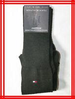 HILFIGER NEUF chaussettes luxe homme noir 41 42 UK 7,5 US 8 laine mélangée