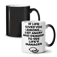 Life Gives Lemons Funny NEW Colour Changing Tea Coffee Mug 11 oz | Wellcoda
