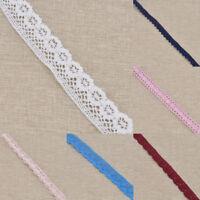 Spitzenborte Randverzierung Weiß Nähen Rupfenband Basteln für Kleid Hochzeit