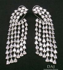 Cubic Zirconia Chandelier Five Line Fashion Earrings Like Real d1