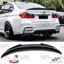 BMW 3 SERIES M3 F30 F80 PSM STYLE REAL CARBON FIBER BOOT TRUNK LIP SPOILER