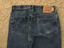 Levi's 501 Straight leg Button Fly Jeans Mens tag=34x29 (MEASURED=32x27) (3077)