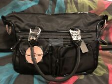 Authentic MIMCO LUCID BABY BAG BLACK NAPPY BAG Nylon 24K RoseGold RRP299