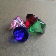 4PC Color Chandelier Glass Crystal Lamp Prisms Parts Hanging Drops Pendants 40MM