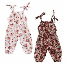 Floral Toddler Infant Baby Girl Romper Jumpsuit Playsuit Sunsuit Outfits Clothes