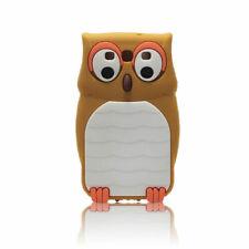 Apple iPhone 4 4s 4g BACK CASE 3D Muster Hülle Handy Case Tasche Etui Eule Brown