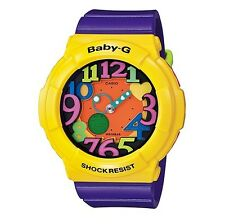 Casio Baby-G * BGA131-9B Crazy Neon UV LED Yellow & Purple COD PayPal