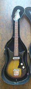 Vintage 1960's Teisco Del Rey E-100 Electric Guitar Single Pick Up Sunburst