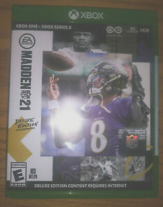 Madden NFL 21 Deluxe Edition (Xbox One, 2020) - Factory Sealed