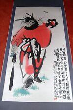"Roll-Bild aus Peking, China, Original Kallifgrafie-Malerei, ""Guter Geist"""
