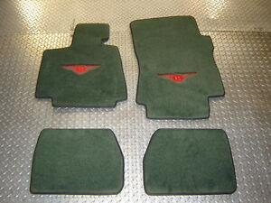 BENTLEY AZURE 2008 GREEN WITH RED WINGS AND BLACK BINDING FLOOR MAT SET 4PCS